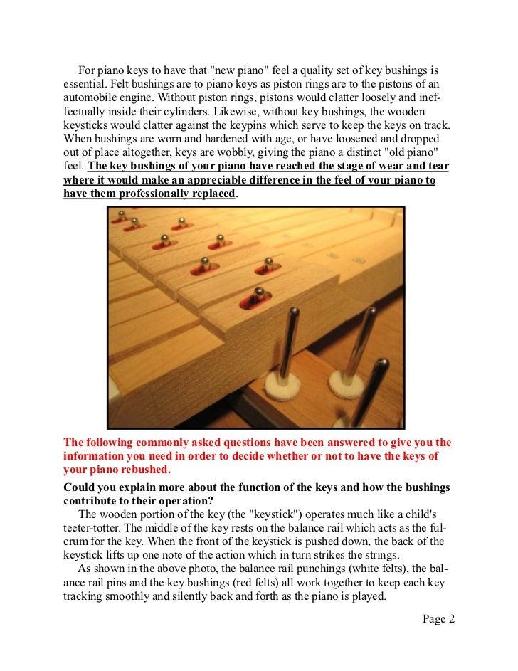 Technical Info 10   rebushing keys Slide 2