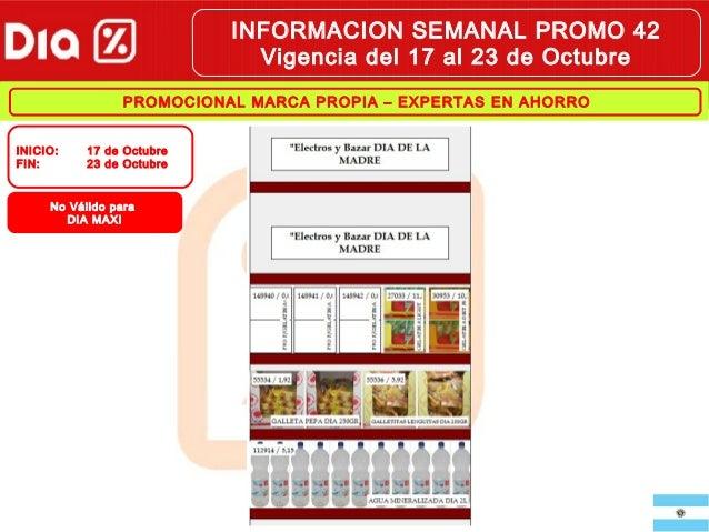 INFORMACION SEMANAL PROMO 42 Vigencia del 17 al 23 de Octubre PROMOCIONAL MARCA PROPIA – EXPERTAS EN AHORRO INICIO : FIN: ...