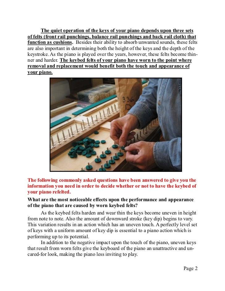 Technical Info 9   re-felting keybed Slide 2