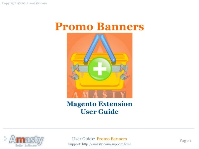 Copyright © 2012 amasty.com                              Promo Banners                               Magento Extension    ...