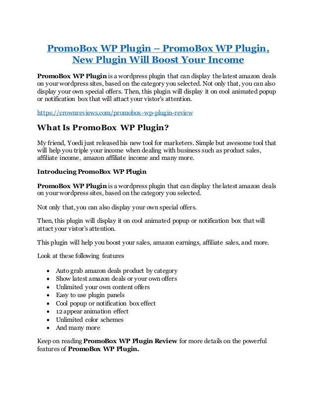 Promo box wp plugin review &
