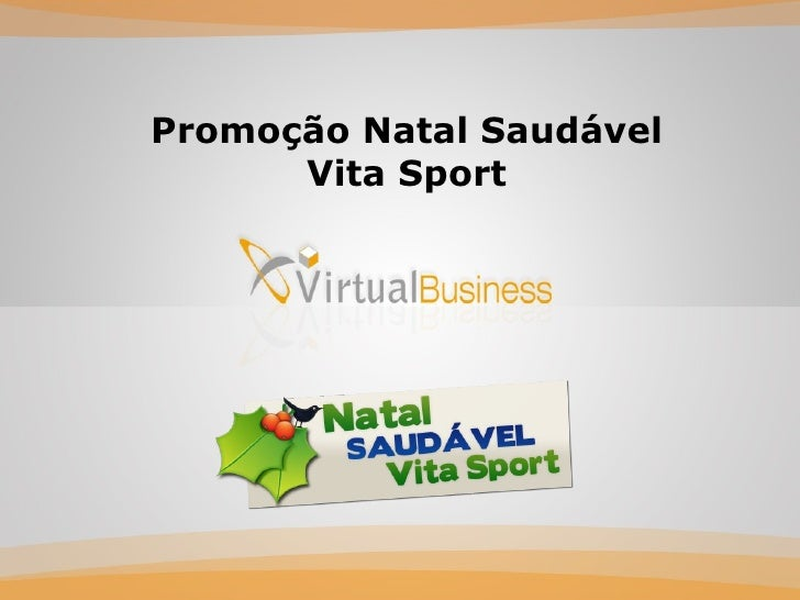 Promoção Natal Saudável Vita Sport