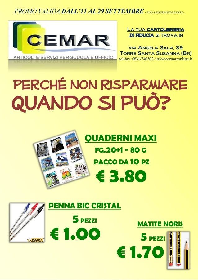 QUADERNI MAXI FG.20+1 - 80 G PACCO DA 10 PZ € 3.80 PROMO VALIDA DALL'11 AL 29 SETTEMBRE - FINO A ESAURIMENTO SCORTE - LA T...