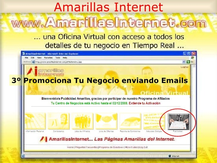 tarjetas amarillas internet