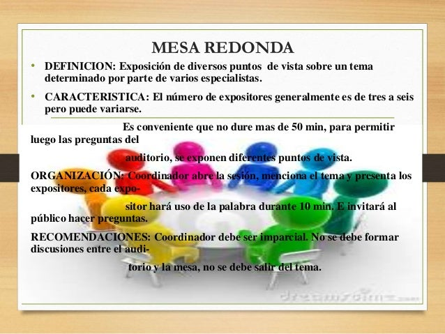 Promocion de la salud power point - Que es mesa redonda ...