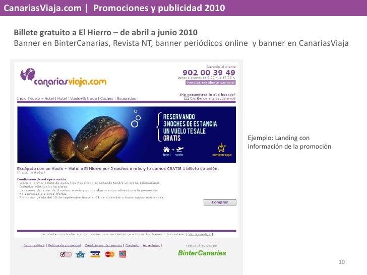CanariasViaja.com    Promociones y publicidad 2010<br />Billete gratuito a El Hierro – de abril a junio 2010<br />Banner e...