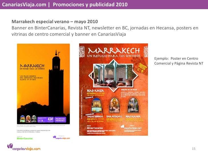 CanariasViaja.com    Promociones y publicidad 2010<br />Marrakech especial verano – mayo 2010<br />Banner en BinterCanaria...