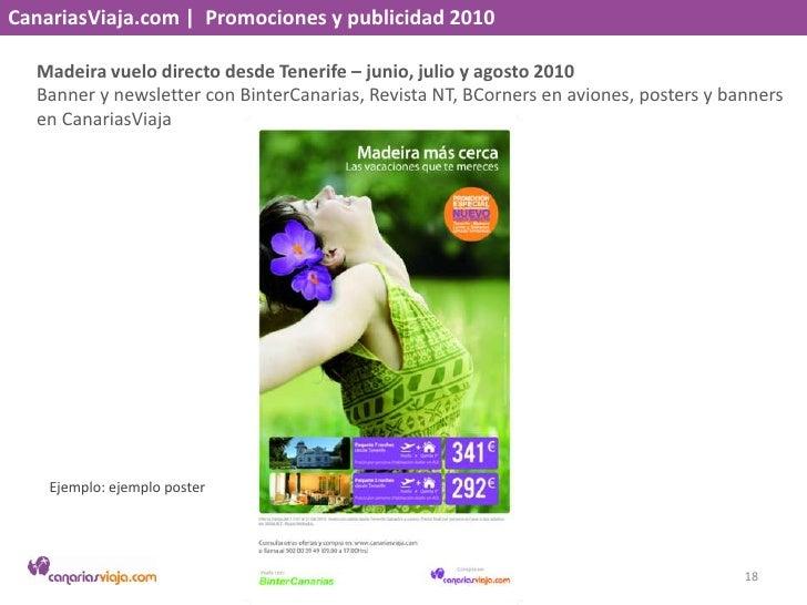 CanariasViaja.com    Promociones y publicidad 2010<br />Transvulcania– junio 2010<br />Flyer en aviones, banner y landing ...