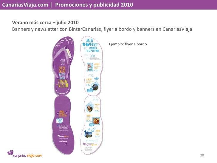 CanariasViaja.com    Promociones y publicidad 2010<br />Sumérgete – junio, julio y agosto 2010<br />Newsletter y banners e...