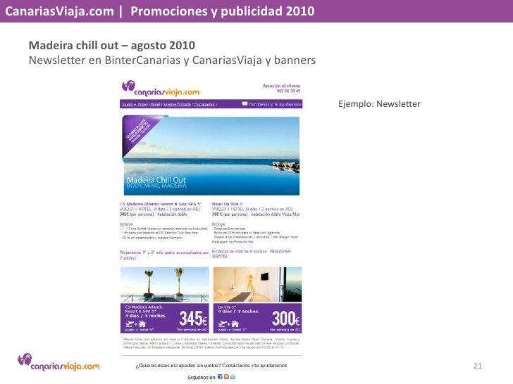 CanariasViaja.com    Promociones y publicidad 2010<br />Verano más cerca – julio 2010<br />Banners y newsletter con Binter...