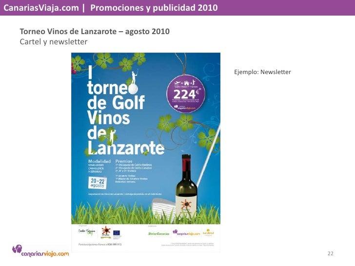 CanariasViaja.com    Promociones y publicidad 2010<br />Madeira chillout– agosto 2010<br />Newsletter en BinterCanarias y ...