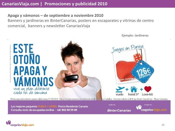 CanariasViaja.com    Promociones y publicidad 2010<br />Vuelo gratis a El Hierro – septiembre 2010<br />Banner en BinterCa...