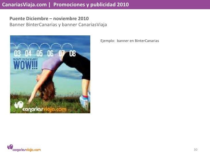 CanariasViaja.com    Promociones y publicidad 2010<br />Descubre Marrakech – noviembre 2010<br />Revista NT<br />Ejemplo: ...