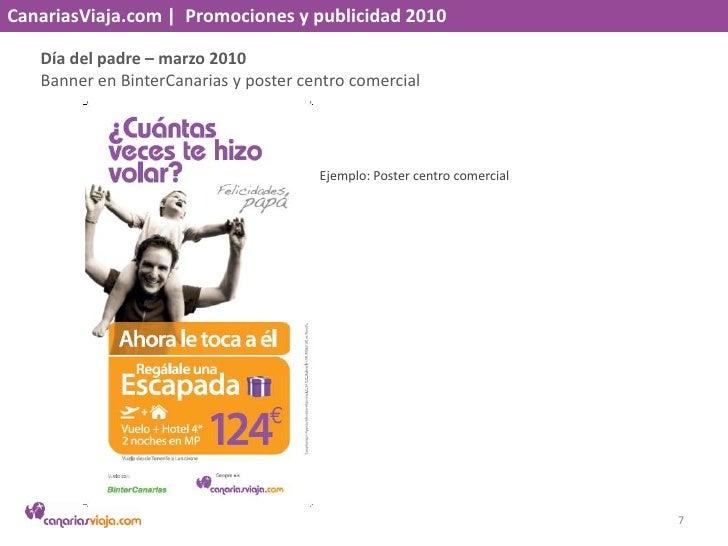 CanariasViaja.com    Promociones y publicidad 2010<br />Día del padre – marzo 2010<br />Banner en BinterCanaria y poster c...