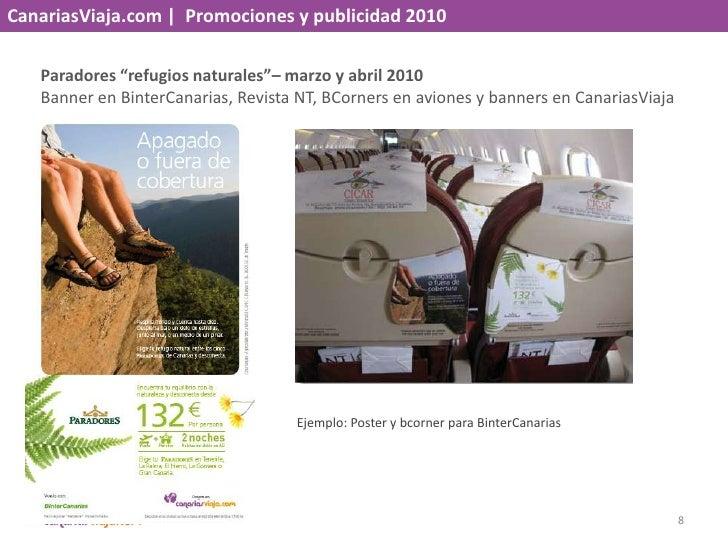 """CanariasViaja.com    Promociones y publicidad 2010<br />Paradores """"refugios naturales""""– marzo y abril 2010<br />Banner en ..."""