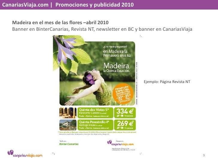CanariasViaja.com    Promociones y publicidad 2010<br />Madeira en el mes de las flores –abril 2010<br />Banner en BinterC...