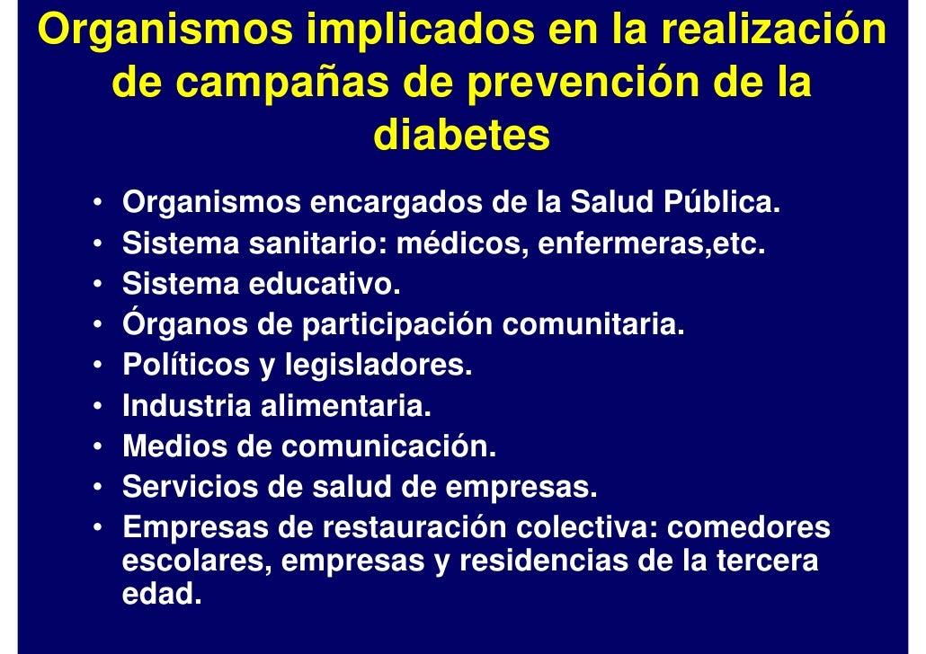 Promoción, prevención y diagnóstico precoz de la Diabetes