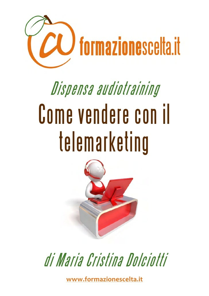 Dispensa audiotraining     Come vendere con il       telemarketing                                            ...