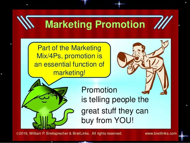 Functions of Marketing: Promotion