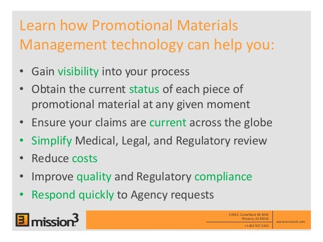 Mission3 Electronic Promotional Materials Management Empm