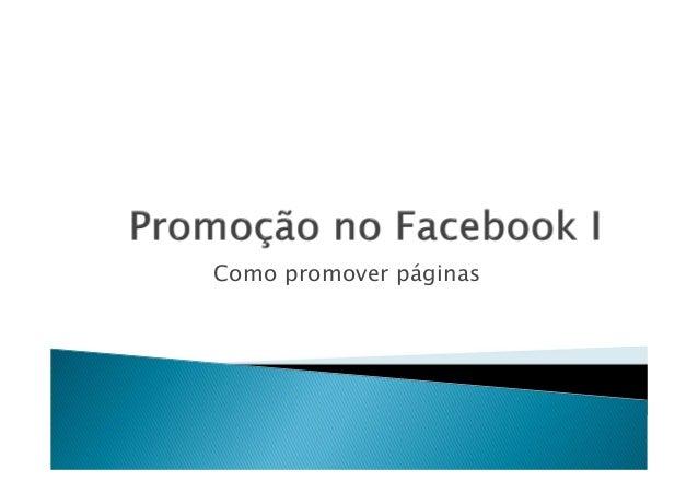 Como promover páginas