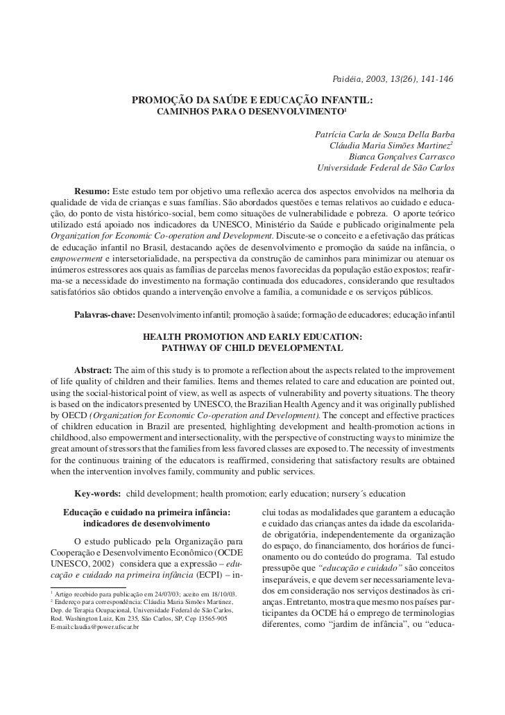 Paidéia, 2003, 13(26), 141-146                                                                                            ...