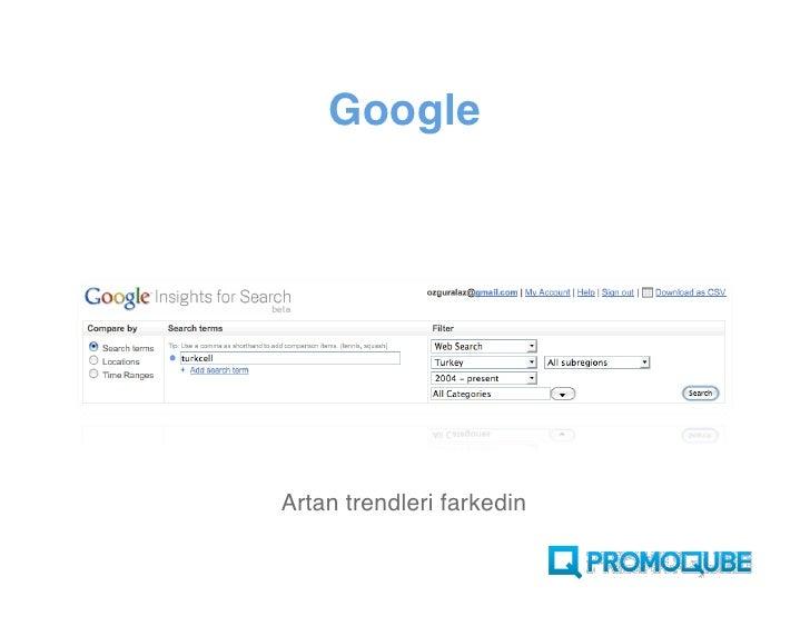 Google     Artan trendleri farkedin