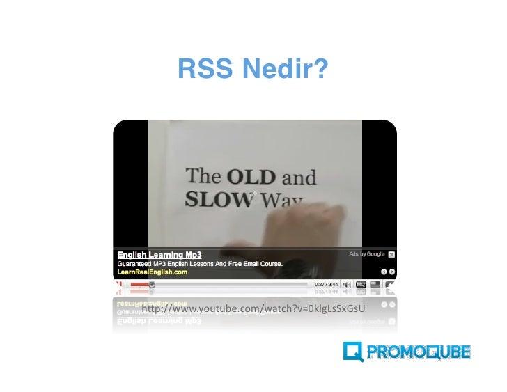 RSS Okuyucunuz var mı?