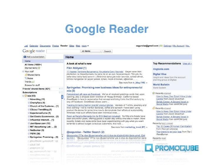 RSS okuyucumuzu trend kaynaklarıyla dolduralım