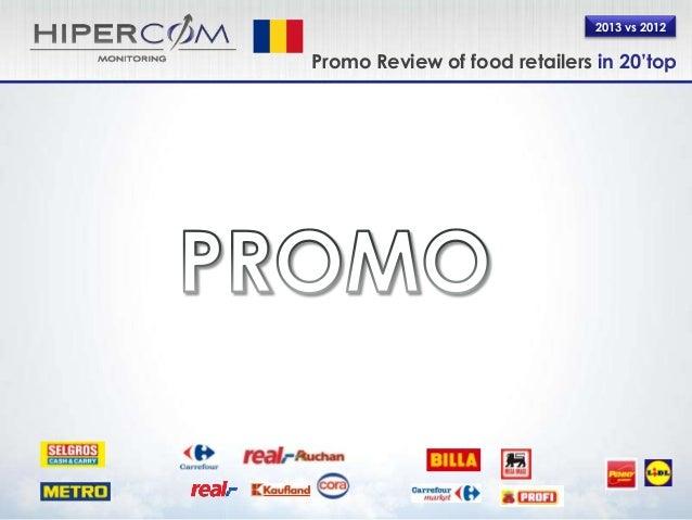 2013 vs 2012 Promo Review of food retailers in 20'top