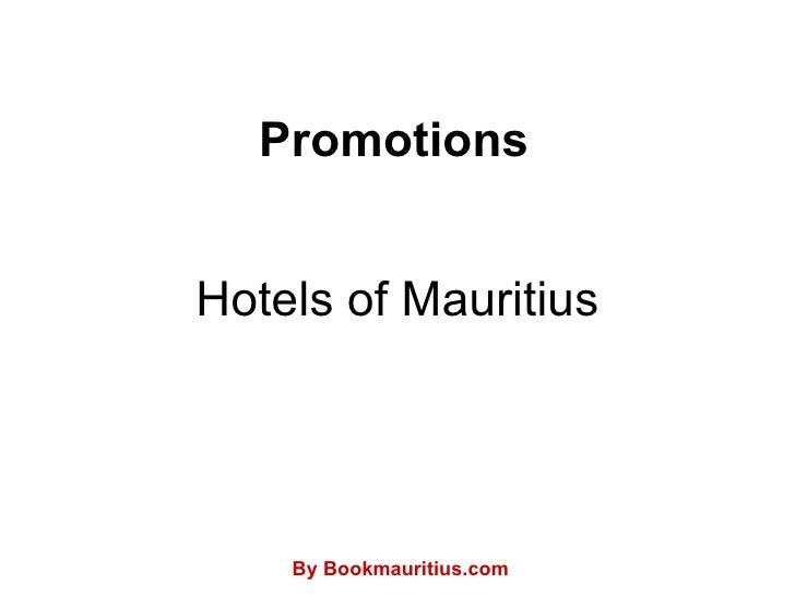 Hotels of Mauritius Promotions By Bookmauritius.com