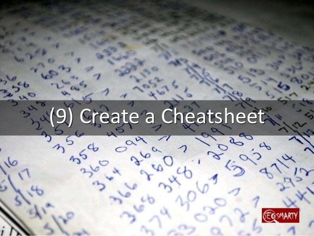 (10) Create a Downloadable Checklist