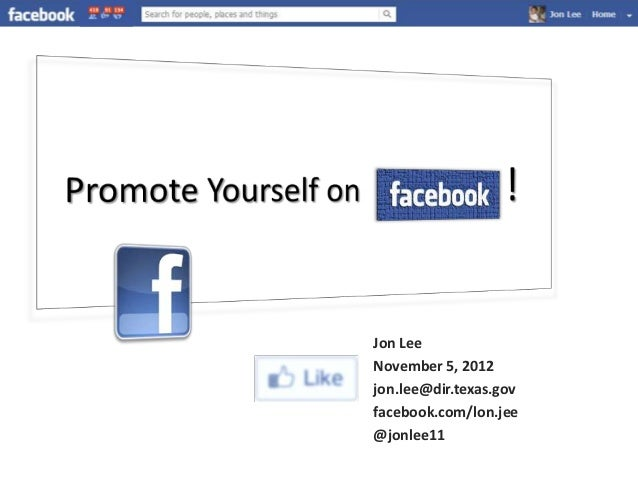 Jon LeeNovember 5, 2012jon.lee@dir.texas.govfacebook.com/lon.jee@jonlee11