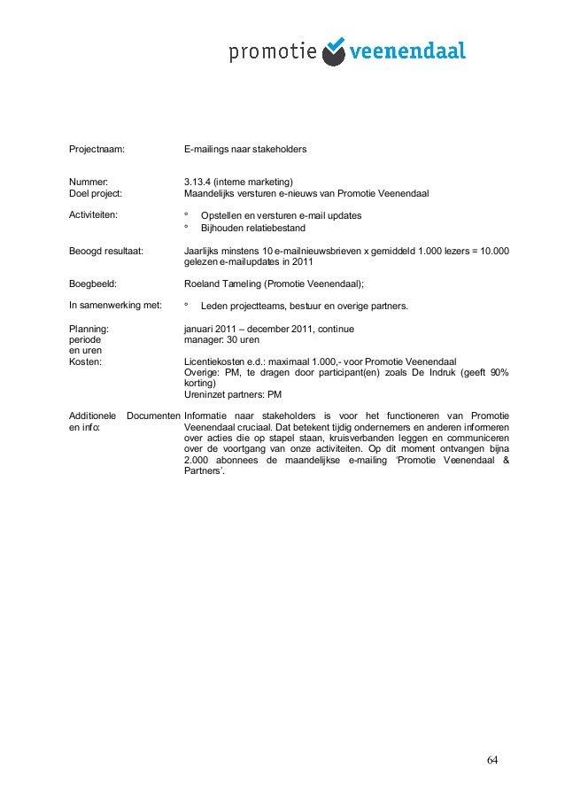 Promotie veenendaal jaarplan 2011 2012 concept 3