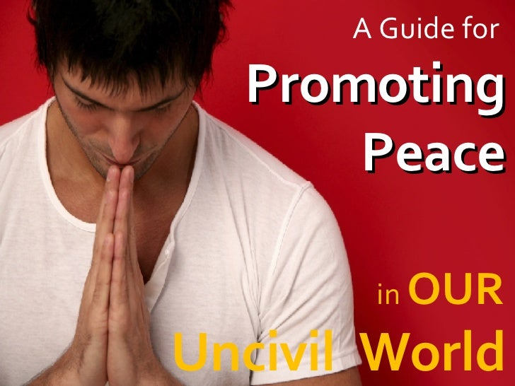 A Guide for  Promoting Peace in  OUR   Uncivil  World