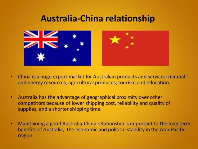 australia and china relationship wiki