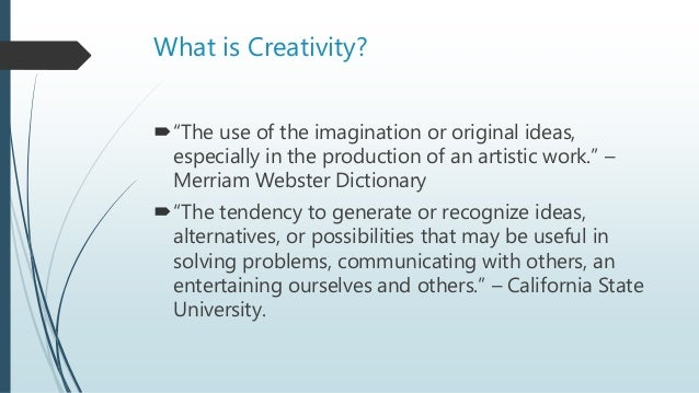 promoting creativity in the classroom ppt presentation
