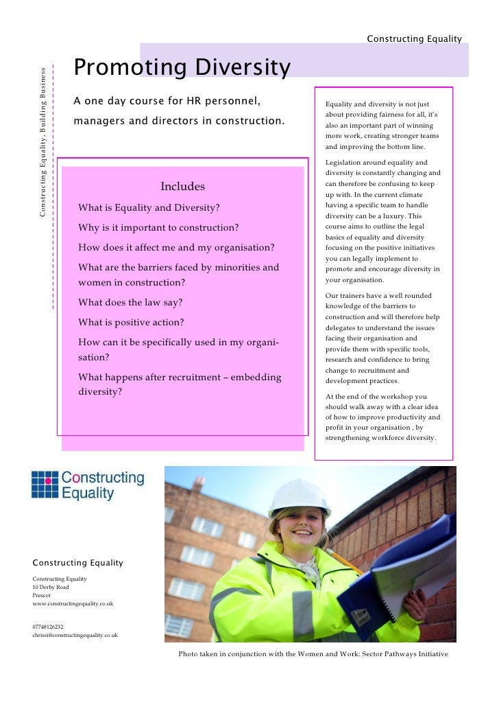 unit 306 promote equality diversity Get deal unit 306 promote equality, diversity and inclusion in work with children and young people 11 identify the current legislation and codes of practice relevant to the promotion of equality and valuing of diversity.