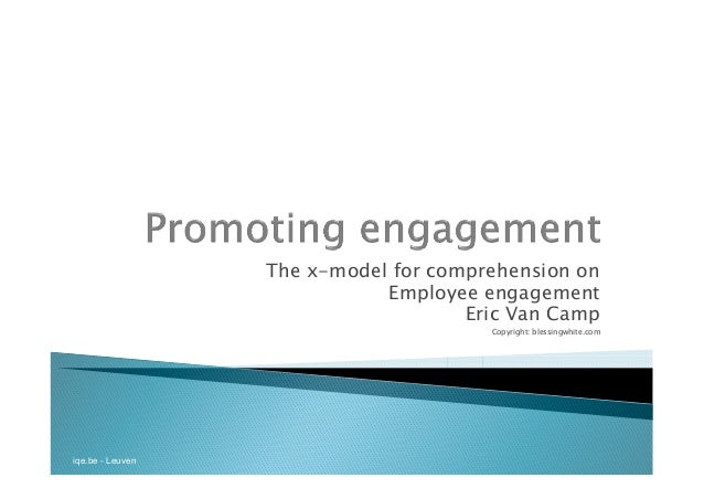 iqe.be - Leuven The x-model for comprehension on Employee engagement Eric Van Camp Copyright: blessingwhite.com
