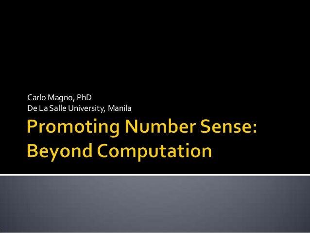 Carlo Magno, PhD De La Salle University, Manila