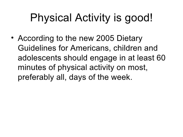 is physical activity recommended by the dietary guidelines