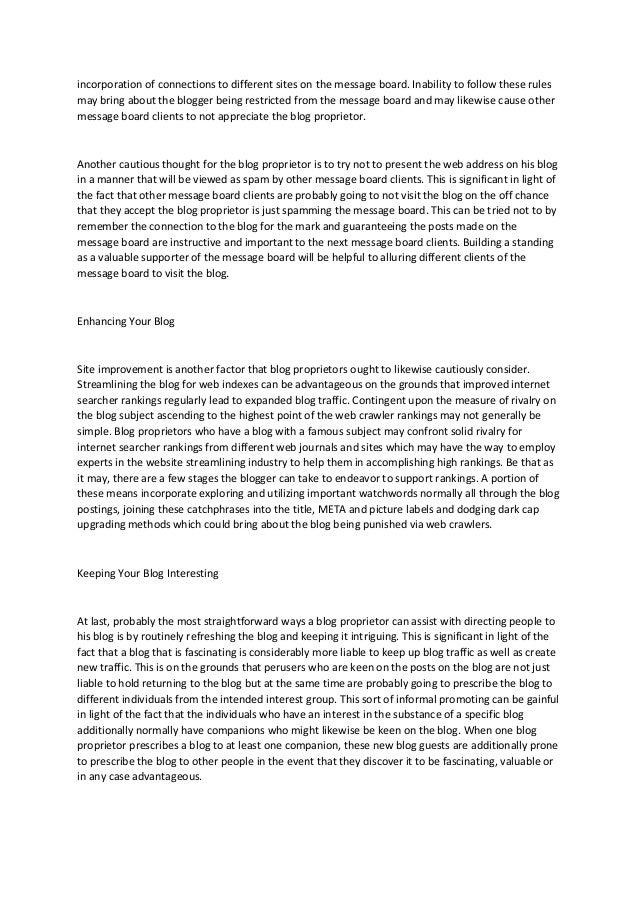 Pro moting your blog Slide 2
