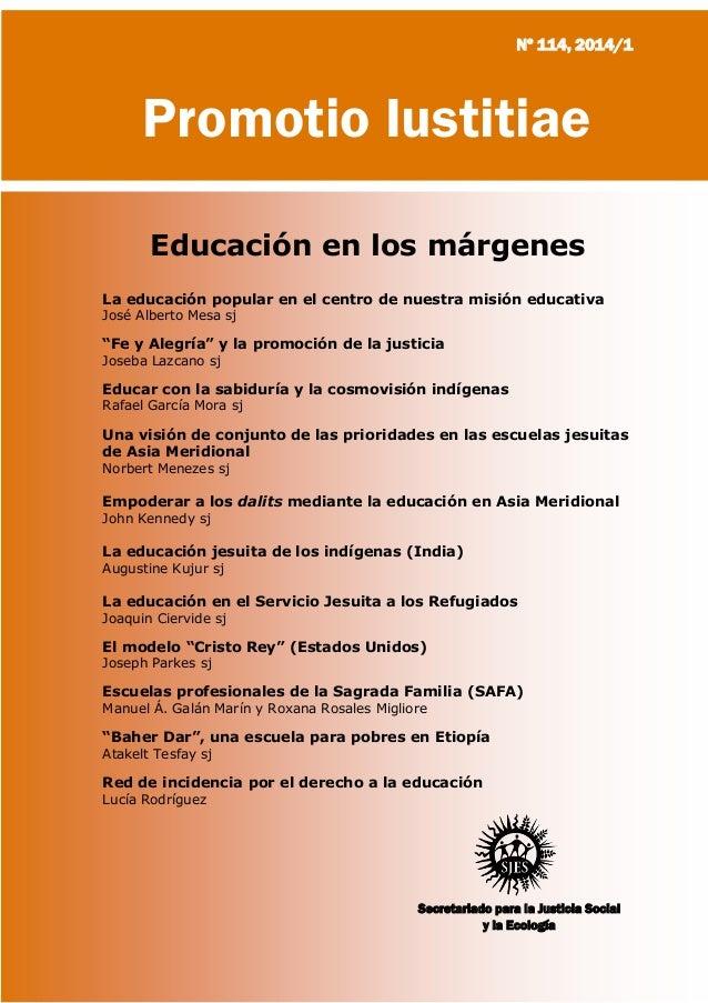 Social Justice and Ecology Secretariat Society of Jesus Promotio Iustitiae Secretariado para la Justicia Social y la Ecolo...