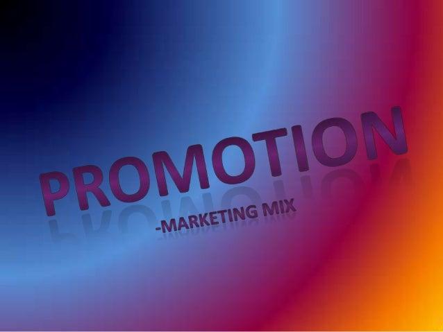 Promotion(marketing mix)