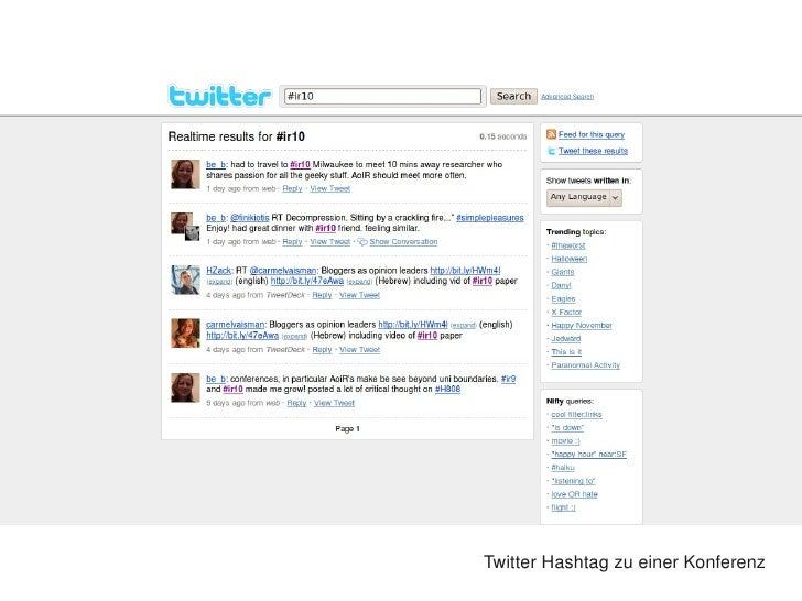 TwitterHashtagzueinerKonferenz