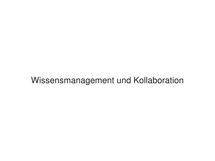 WissensmanagementundKollaboration