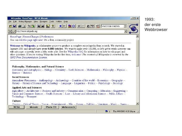 1993:         dererste         Webbrowser
