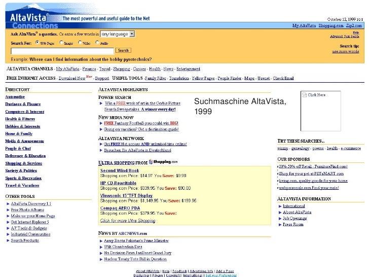 SuchmaschineAltaVista,         1999