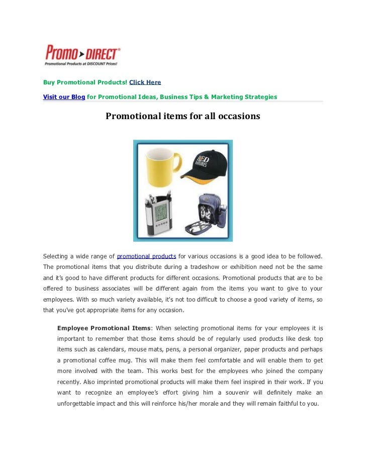 Buy Promotional Products! Click HereVisit our Blog for Promotional Ideas, Business Tips & Marketing Strategies            ...