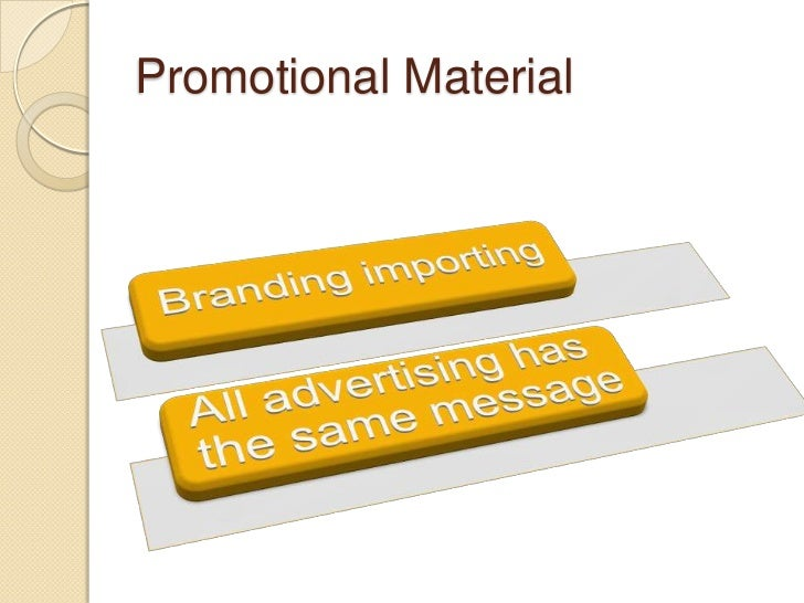 Promotional Marketing Materials Discussion